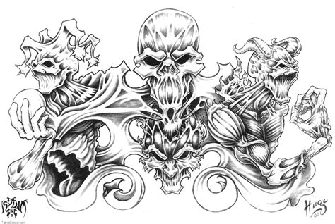 tattoo background designs free skulls coloring pages