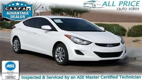 hyundai elantra cars for sale used cars for sale in az 2012 hyundai elantra all