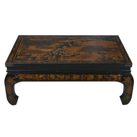black leather painted coffee table