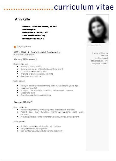 Curriculum Vitae Sles Free In Word 25 Best Ideas About Modelos De Curriculums On