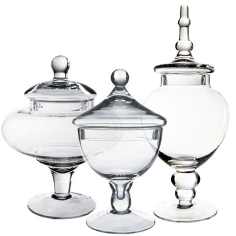 vases for buffet set of three 3 buffet jars glass apothecary jar