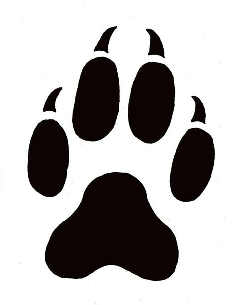 Leopard Paw Print Outline Paw Prints Template Free Paw Print Template