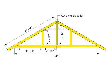 4 Car Garage Dimensions by How To Build A Garage Roof Howtospecialist How To