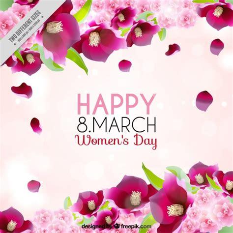 fiori per donne sfondo donne day rosa con fiori scaricare vettori gratis