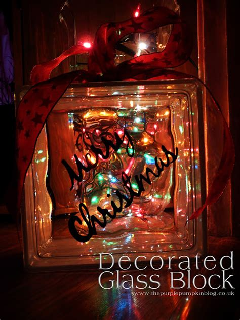 christmas ideas for glass blocks 19 ideas for decorated glass blocks