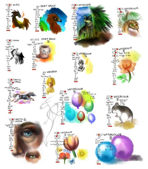 paint tool sai fan made safari settings brushes for sai by fandragonball on deviantart