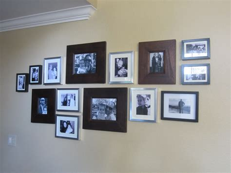 on wall family photo wall diy inspired
