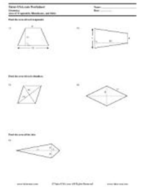 free geometry worksheets & printables with answers
