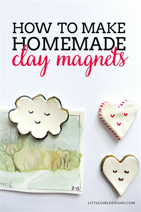 how to make clay clay magnets