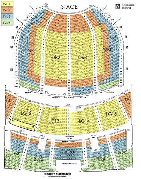 peabody opera house seating chart peabody opera house seating chart peabody seating chart peabody opera house seating