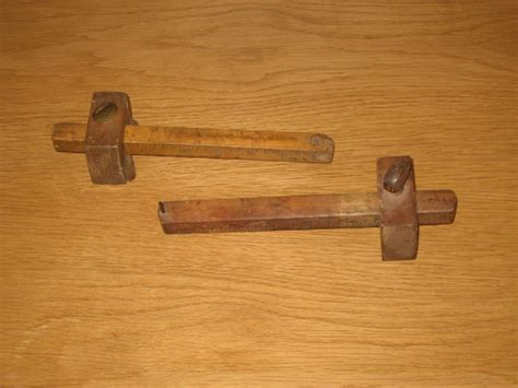 ebay woodworking tools pair of antique vtg wooden adj mortise marking wood