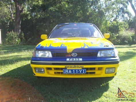 subaru car legacy subaru liberty legacy rs turbo 1989 replica possum bourne