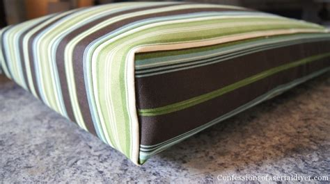 how to make a bench seat cushion cover sew easy outdoor cushion covers oldie but goodie
