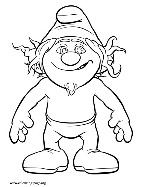 the smurfs hackus a naughty smurf coloring page