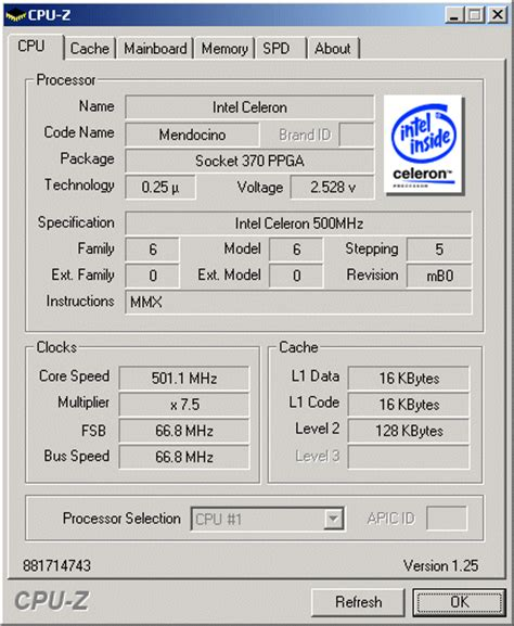 cpu info socket 370 april 1998 to july 2001 the mother of all