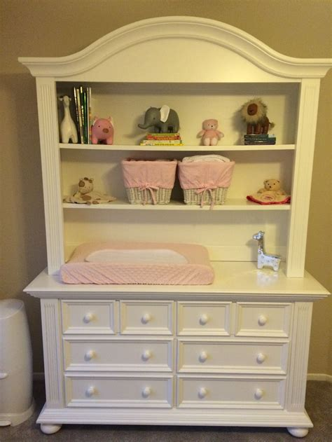 pottery barn dresser baby white hutch and dresser from buy buy baby pink and white