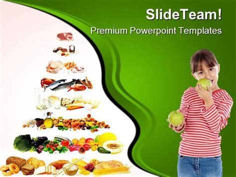 healthy food powerpoint template food pyramid health powerpoint templates and powerpoint