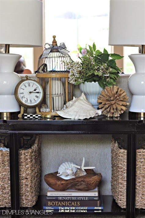 how to decorate sofa table decor for sofa table remodelaholic 25 ways to decorate a