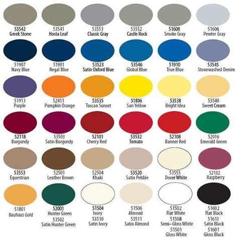 krylon fusion colors krylon spray paint color chart spray paint color choices