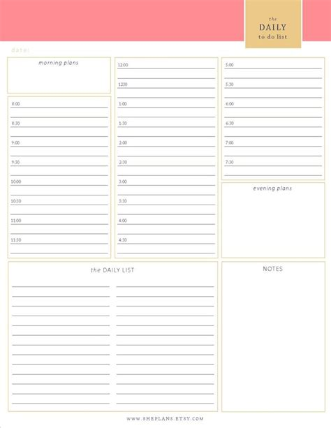 free printable daily planner 30 minute intervals 1000 images about organisation on pinterest time