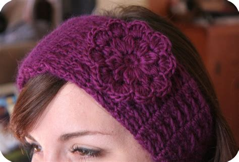 pattern for headbands headband crochet pattern with pretty flower monday market