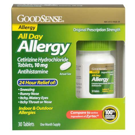 Obat Cetirizine Hcl 10 goodsense cetirizine hcl tablets 10 mg antihistamine 30 count