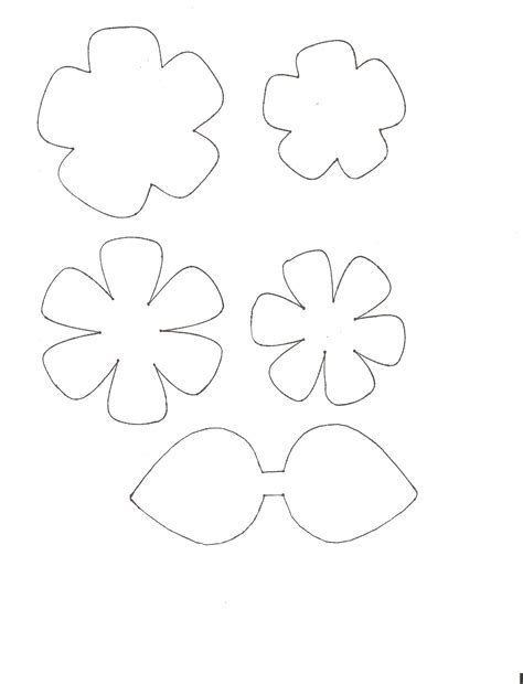 flower templates free craft tutorial