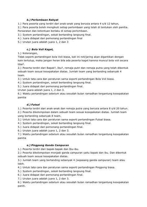 membuat proposal futsal contoh proposal kegiatan futsal cable tos