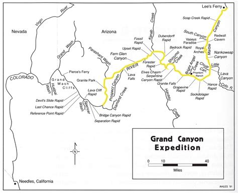 map of grand grand river expedition map grand national park az us mappery