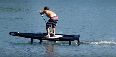 hydrofoil board behind boat a sup foil board for racing no pumping required seabreeze