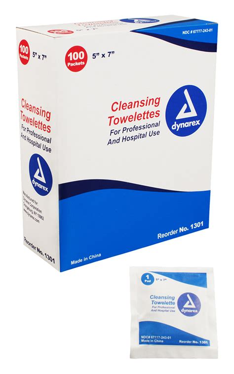 Emt Detox Assist In Medications by Dynarex Cleansing Towelettes Emergency Products
