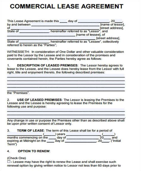 41 lease agreement formats