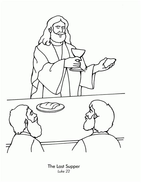 free coloring page last supper the last supper coloring page coloring home