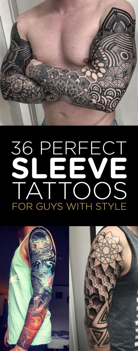 guys with sleeve tattoos 36 sleeve tattoos for guys with style tattooblend