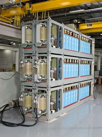 high voltage capacitor railgun general atomics delivers pulsed power containers to the navy for railgun testing and