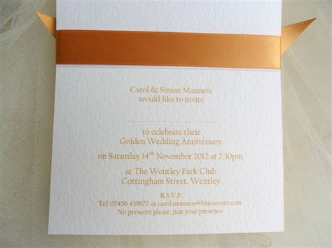 golden wedding anniversary announcement wording 60p each 50th golden wedding anniversary invitations