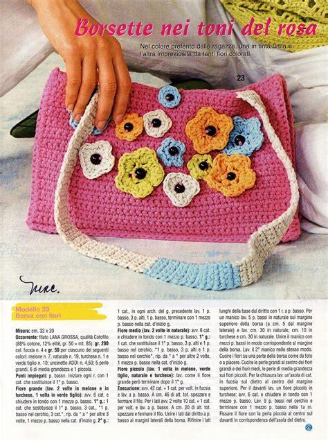 borse con fiori borsa uncinetto con fiori magiedifilo it punto croce