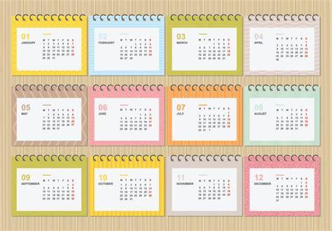 illustrator monthly calendar template 2018 free desktop calendar 2018 with soft colour template