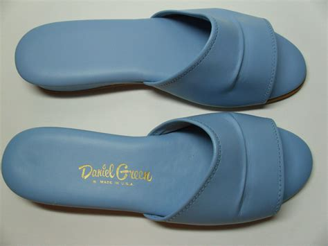 light blue slippers vintage daniel green slippers light blue by 4theloveofvintage