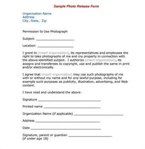 photo print release form template sle print release forms 6 free documents in pdf