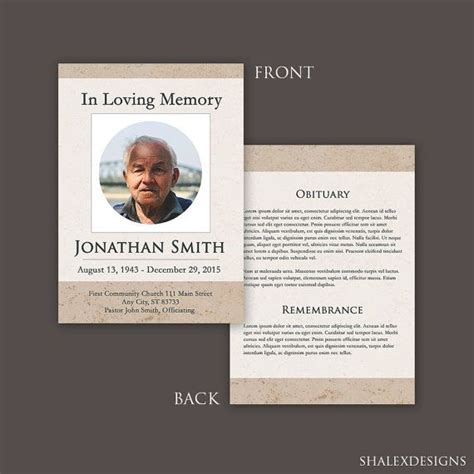 photoshop memorial card template 25 best ideas about funeral cards on memorial