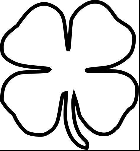 Four Leaf Clover Outline Clip by 4 Leaf Clover Clipart Clipground