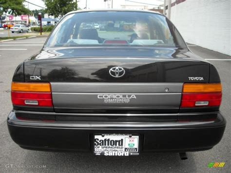 1995 Toyota Corolla Dx 1995 Satin Black Metallic Toyota Corolla Dx Sedan