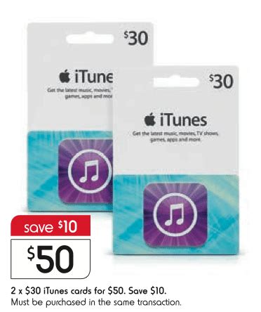 Kmart Itunes Gift Card - expired get 2x 30 itunes cards for 50 at kmart save 16 6 gift cards on sale
