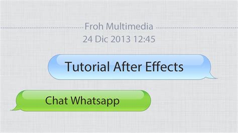 Template After Effects Whatsapp | tutorial after effects chat whatsapp youtube