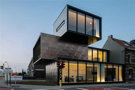 Kitchen Cabinet Depths by Container Shaped Office Building With Multiple Fronts
