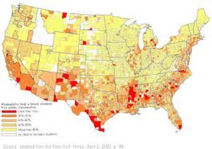 New York Times Racial Map by Black White Segregation 2000