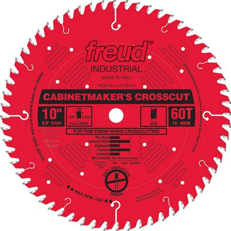 freud table saw blades freud 174 lu73r industrial cabinetmaker s crosscut saw blades rockler woodworking hardware