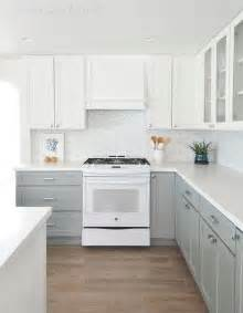 White And Grey Kitchen Cabinets kitchen with white top cabinets and gray bottom cabinets