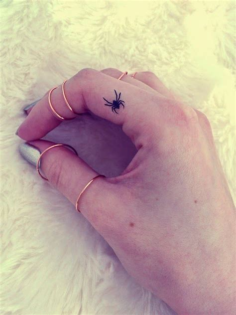 small spider tattoos finger mandala knuckle rings h m nail